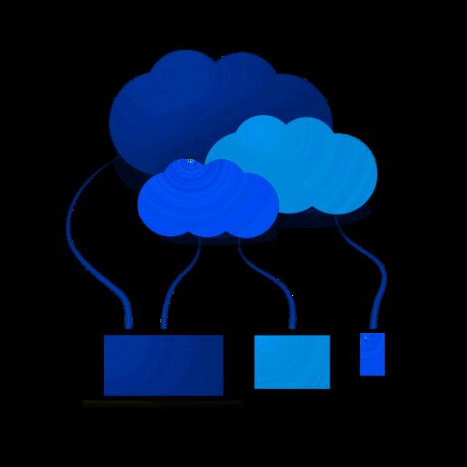 pc nuvole blu cloud