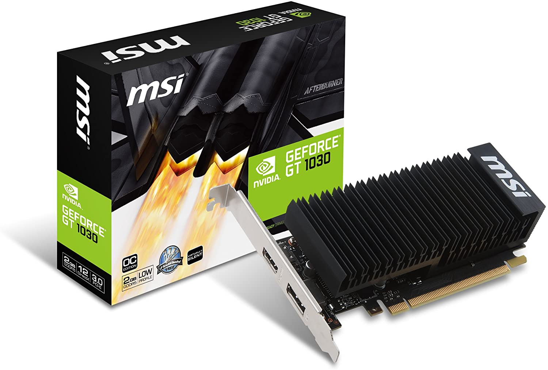 MSI GeForce GT 1030 fanless 2 GB GDDR5 64 bit, PCI Express